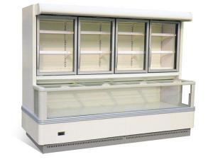 China Glass Door Freezer / Wall Site Combi Freezer on sale