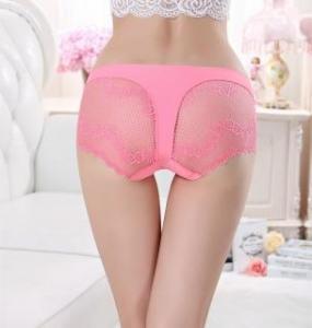 China Women underwear briefs sexy women's Panties full transparent lace string plus size women underwear on sale