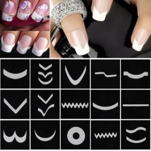 China French Style Nail Manicure DIY Nail Art Tips Guides Stencil Strip Nail Art Stickers on sale