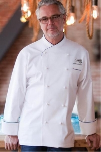 China MONTE CARLO Egyptian Cotton Chefs Coat on sale