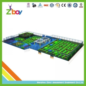 China trampoline park Happy Play Safety Promised Indoor Trampoline-Area with Inflatable Airbag on sale