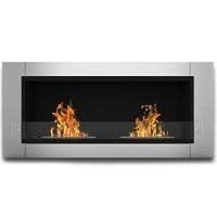China Elite Flame Fargo Ventless Bio Ethanol Recessed or Wall Mounted Fireplace on sale