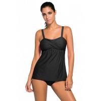 Black 2pcs Swing Tankini Swimsuit Item NO: LC41933-2