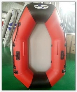 China Famous brand SHICHENG red inflatable water fishing boat/water electraic boat on sale