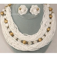 WILLIAM HOBE Bride or Party Multi- Strand Necklace and Earring Set