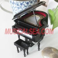 High quality mini piano hand crank music box Musical Instrument
