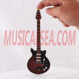 Quality Miniature guitar model wooden handmade crafts Musical Instrument for sale