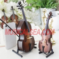 Miniature brown violin figurines with music box Musical Instrument