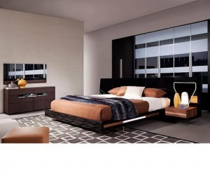 China Salento - Contemporary Floating Modern Bed Set With Lights Bedroom Furniture on sale
