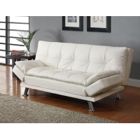 300291 Contemporary Styled Futon Sleeper Sofa with Casual Seam Stitching Bedroom Furniture