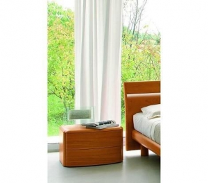 China Drop - Modern Cherry Nightstand Bedroom Furniture on sale