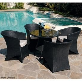 China Dining Sets Coronado 5-Piece Bistro Patio Set - Black on sale