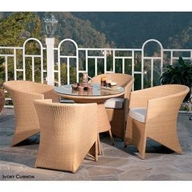 China Dining Sets Coronado 5-Piece Bistro Patio Set - Natural on sale