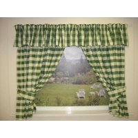 China Green Kitchen Curtains on sale