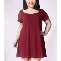 Plus size clothing $8 Plus size women cotton short-sleeved dress