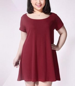 China Plus size clothing $8 Plus size women cotton short-sleeved dress on sale