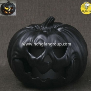 China Cheap Black Resin Lighted Pumpkins on sale