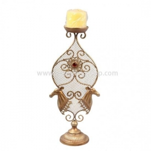 China Xmas Metal Golden Deer Candle Holder Stand on sale
