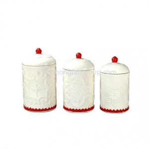 China Ceramic Jar Set for Christmas Kitchen on sale