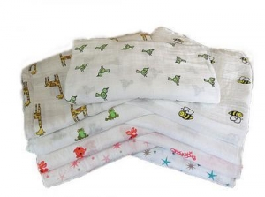 China OEM Muslin Wrap Swaddle Blanket 100% Organic Cotton After Washed on sale