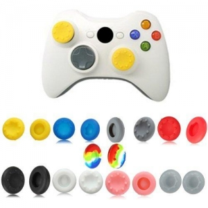 China Analog Stick Silicone Grip Cap Button Covers for XBOX 360 Controller on sale