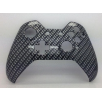 E-MODS GAMING Xbox Original One Hydro Dipped Black Carbon Fibre Controller Shell Mod - Front Shell