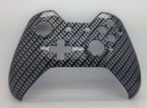 China E-MODS GAMING Xbox Original One Hydro Dipped Black Carbon Fibre Controller Shell Mod - Front Shell on sale