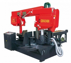 China Rotating double column horizontal metal band saw GW4240H on sale
