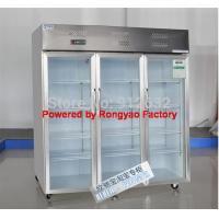China 3 door glass door fridge storage cabinet fridg, refrigerated cabinet on sale