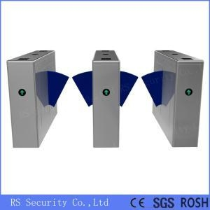 China Security Turnstile Gate Systems Flap Barrier Gate on sale