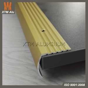 China Abrasive Rounded Aluminium Tile Trim Stair Nosing on sale