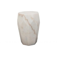 New Items (NOIR) Monolith Side Table, White Stone