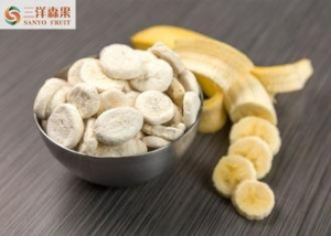 China Safe Freeze Dried Fruit Banana Slices Manually Removed Leaves And Moldy Materials on sale