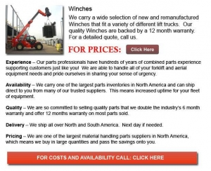 China Winch for Forklift on sale