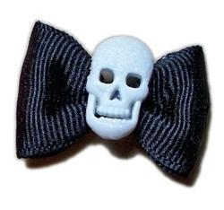 China Glitter Skull Hair Bow on sale
