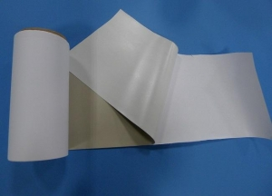 China Flame Retardant Conductive Fabric Laminated with Thermo Adhesive Film PF37B000A21 on sale