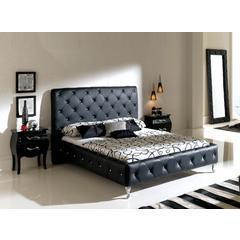 China Sarah Platform Bed in Grey on sale