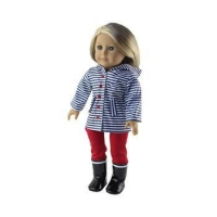18 inch doll clothes fits for 18 inch American girl doll doll boots doll rain coats