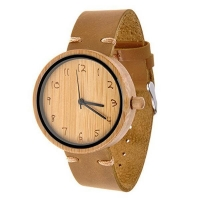 China Orologi Natural Unique Watches for Girl Youngladies Wooden Watches Italian Leather Bracelets on sale