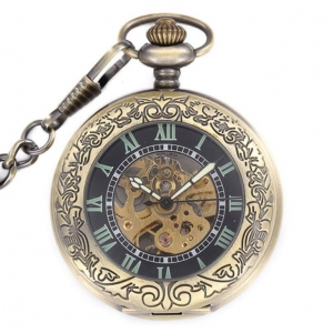 China Old Style Mens Classic Mechanical Pocket Watches for Men on sale