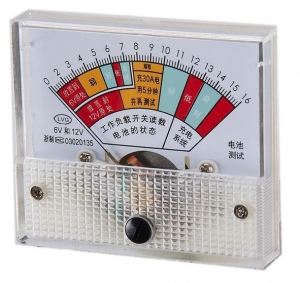 China battery charge DC analog voltmeter 80x80 DC 0-16V colorful panel on sale