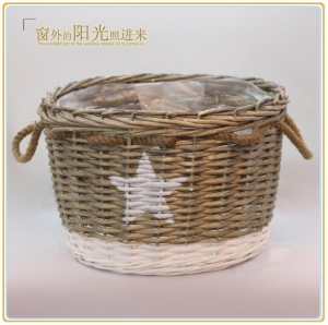 China Natural woven basket Willow basket on sale