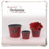 China Christmas decoration Ceramic planter with French lily for sale