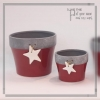 China Christmas decoration Ceramic pot with hanging star for sale