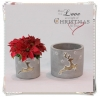 China Christmas decoration Cement planter for sale