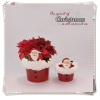 China Christmas decoration Ceramic decoration pot for Christmas for sale