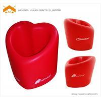 China PU heart shape pen holder on sale
