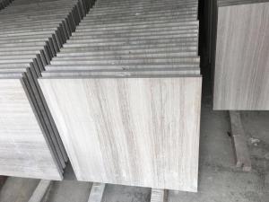China Modern Marble Bathroom Floor Tile , Wood Grain Natural Stone Shower Tile on sale