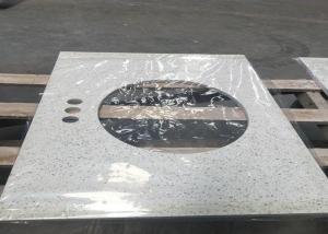 China Meduim Grain Solid Surface Quartz Countertops , Commecial Quartz Composite Countertops on sale