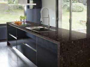 China India Angola Brown Granite Slab Countertop kitchen Granite Tile Countertop Cost Vanity Tops on sale